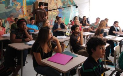 The classroom scene