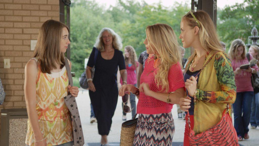 Skylar and Quinn laughing at Cara